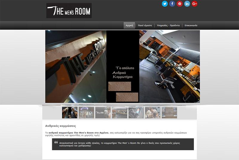 Κατασκευή ιστοσελίδων Αγρίνιο, δημιουργία ιστοσελίδας για κομμωτήριο The Mens Room
