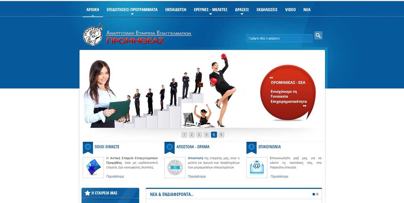 Κατασκευή ιστοσελίδας Προμηθέας- ΕΕΑ -4